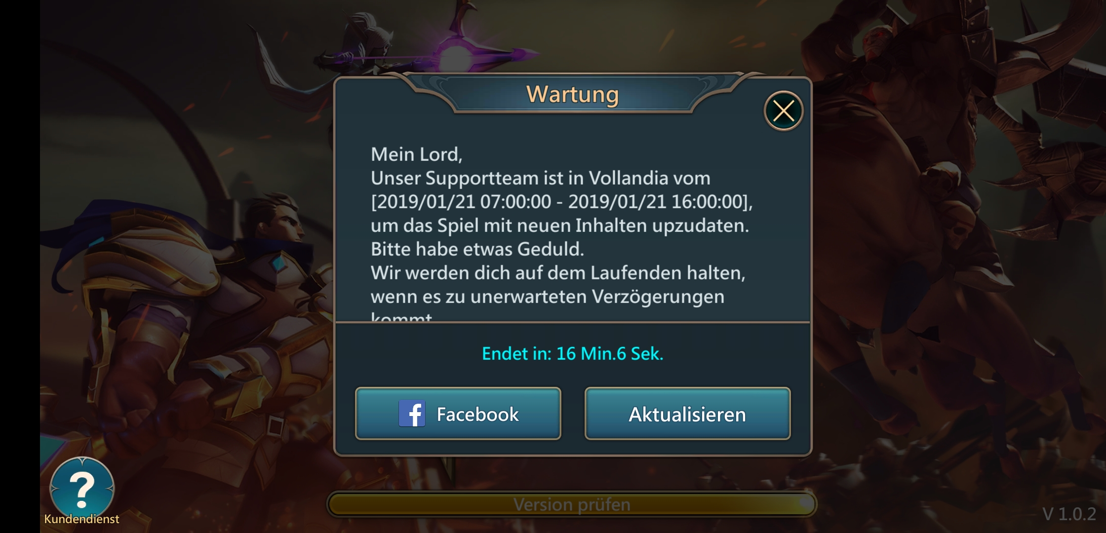 Mobile Royale Wartung