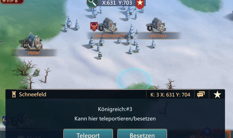 Mobile Royale Dorf Teleport
