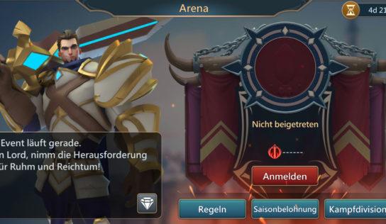 Arena Saison begonnen
